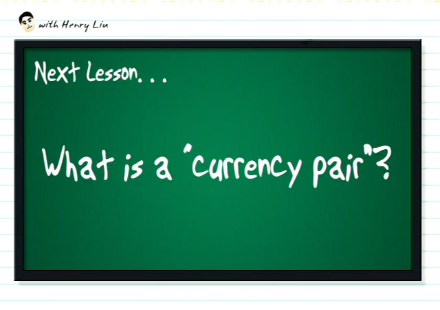 What is a currency pair