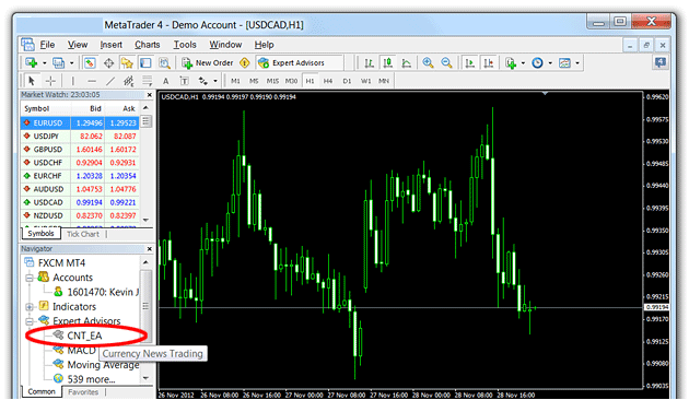 CNT EA Installation Guide - Currency News Trading