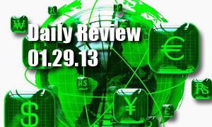 Daily Forex Market Review 01/29/13 (+75 pips)