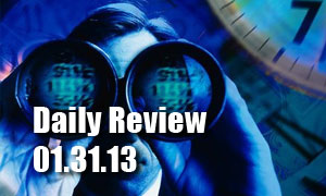 Daily Forex Market Review 01/31/13 +79 pips