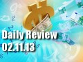 Daily Forex Market Review 02/11/13 (+95 pips)