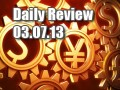 Daily Forex Market Review 03/07/13 (+37.5 pips)
