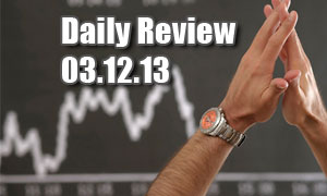 Daily Forex Market Review 03/12/13 (+80 pips)