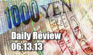 Daily Forex Market Review 06/13/13 (+70 pips)