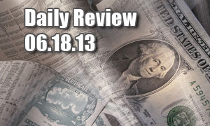 Daily Forex Market Review 06/18/13 (+75 pips)