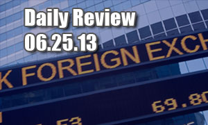 Daily Forex Market Review 06/25/13 (+55 pips)