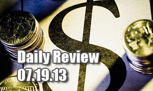 Daily Forex Market Review 07/19/13 (+70 pips)