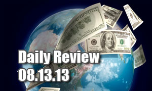 Daily Forex Market Review 08/13/13 (+92.5 pips)