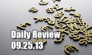 Daily Forex Market Review 09/25/13 (+45 pips)