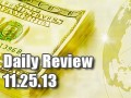 Daily Forex Market Review 11/25/13 (+45 pips)