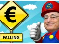A falling euro could be beneficial for the euro zone economy