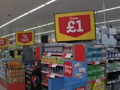UK consumer price inflation falls below zero for first time since 1960